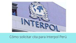 ¿Cómo solicitar cita para Interpol Perú?