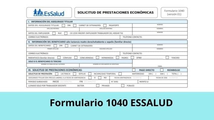 Formulario 1040 Essalud