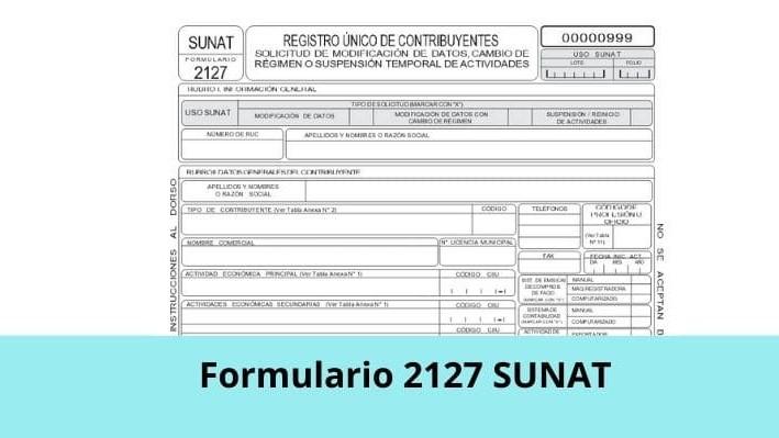 Formulario 2127 SUNAT