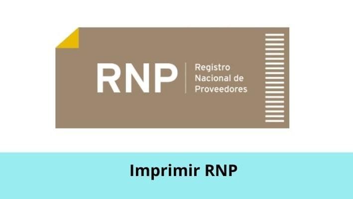 Imprimir RNP