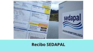 Recibo SEDAPAL