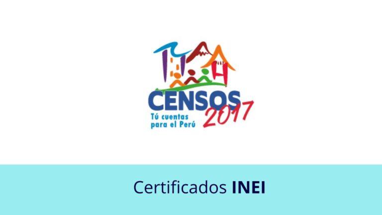 Certificados INEI