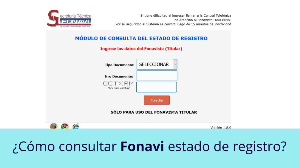 ¿Cómo consultar FONAVI estado de registro?