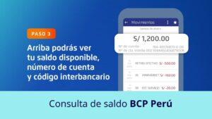 Consulta de saldo BCP Perú