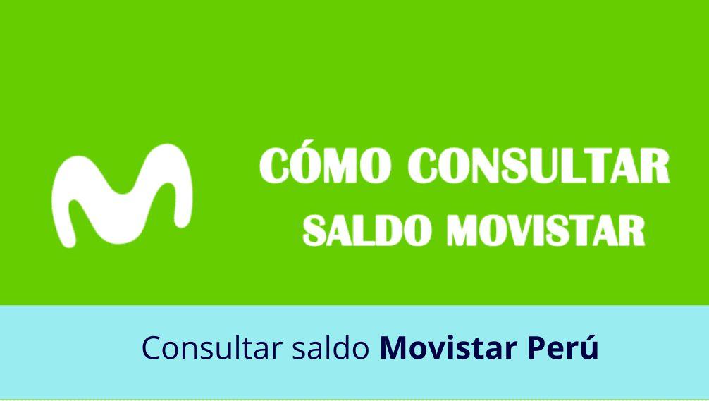 Consultar saldo Movistar Perú