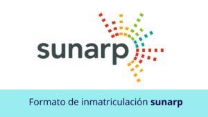 Formato de inmatriculación SUNARP