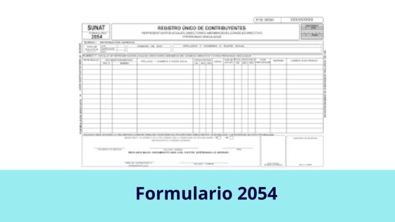 Formulario 2054