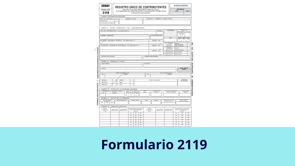 Formulario 2119
