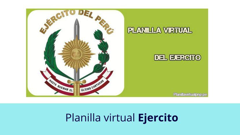 Planilla virtual del Ejercito