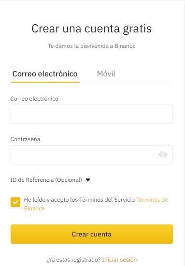 CORREO CONTRASEÑA BINANCE