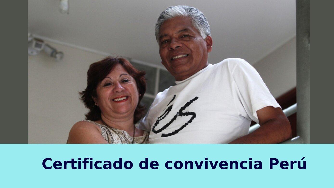 Certificado de convivencia Perú
