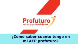 Cómo saber cuánto tengo en mi AFP Profuturo