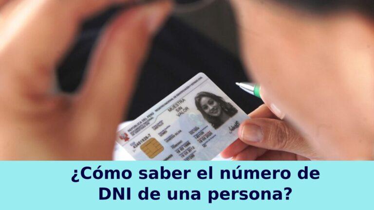 Cómo saber el número de DNI de una persona