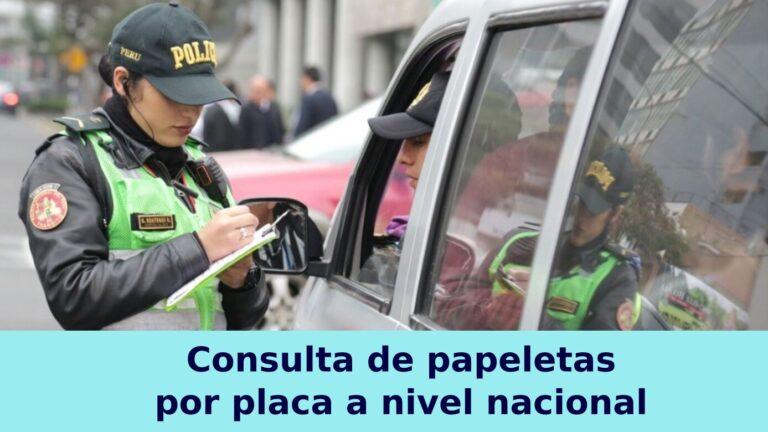 Consulta de papeletas  por placa a nivel nacional