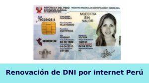 Renovación del DNI por Internet en Perú