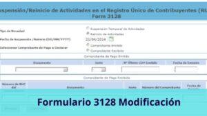Formulario 3128 Modificación de los datos RUC